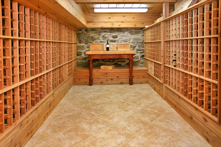 Wine cellar built by Titus Built, LLC