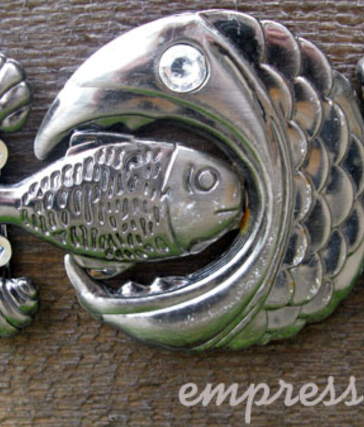 This old belt buckle became the insignia on the side of the pond.