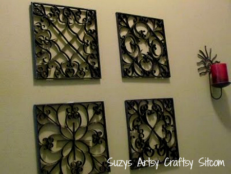 Faux Metal Wall Art Crafts Home Decor