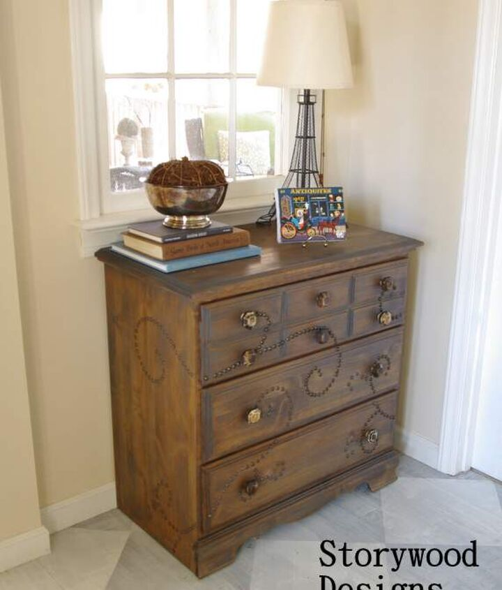 Nail Head Trim Chest of Drawers
