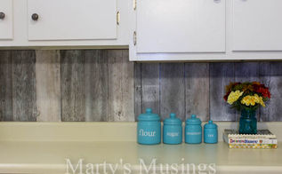 fence board backsplash, diy, home decor, kitchen backsplash, kitchen design, repurposing upcycling, woodworking projects, The finished product