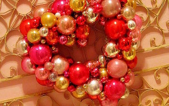 How to make a Valentine Ornament Wreath