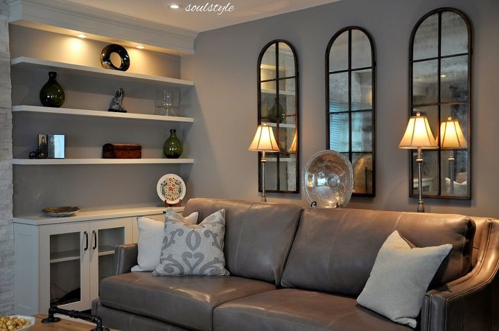 family room makeover, fireplaces mantels, home decor, living room ideas
