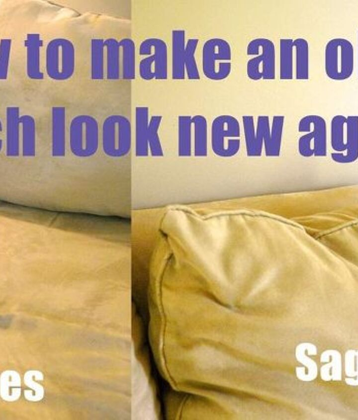 When I started, my couch had a bunch of wrinkles and sags I wanted to get rid of.