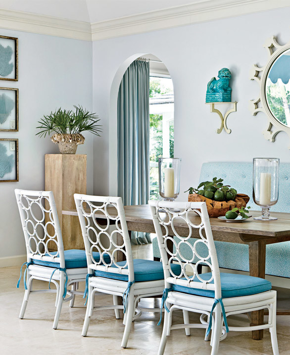 simple, sea-inspired color scheme invites friends and family to relax. Shop the dining room > http://wayfair.ly/16OWprb