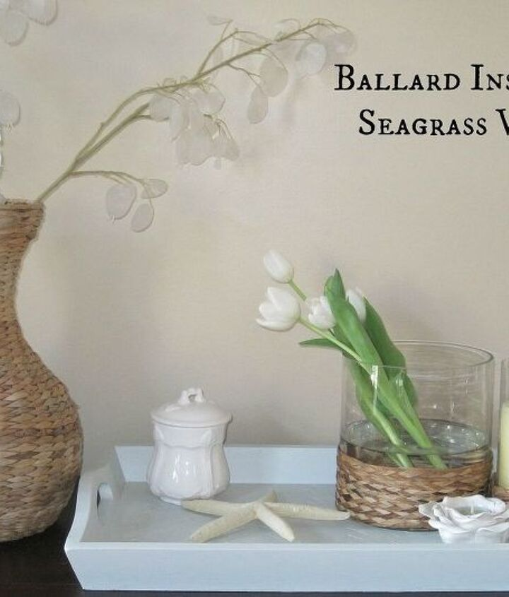 Make these designer inspired seagrass hurricanes for a FRACTION of the designer price. Get the look for way less!