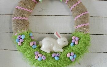 Easter Bunny in the Grass Wreath