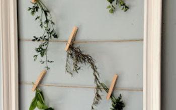 herb drying frame, crafts, gardening, Hang herbs to dry