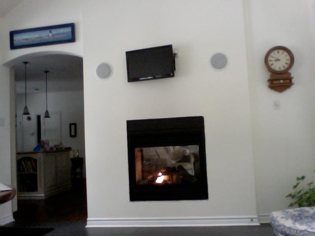 q gas fireplace empty wall blank slate help, fireplaces mantels, home decor, wall decor