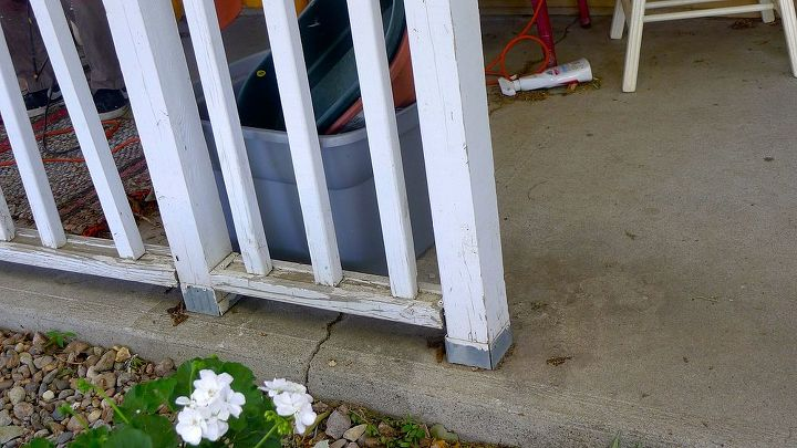 And when I say ugly, I do mean ugly...and rotting. No drainage holes in bottom rail. I flat out refused to paint them.