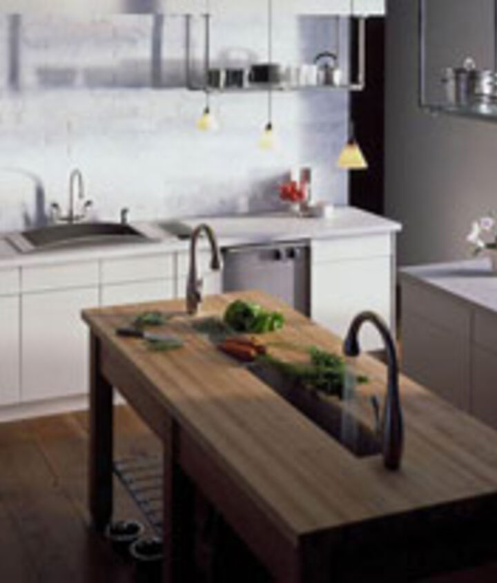 Kohler's example of a kitchen trough sink: http://bit.ly/Ot32rH