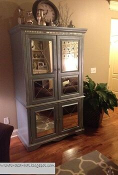 i can t stop looking at my mirrored furniture, painted furniture, Nikki made Mirrored Armoire