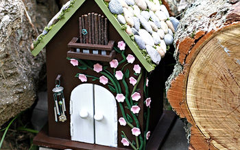 diy fairy house using craft supplies, crafts, Finished fairy house