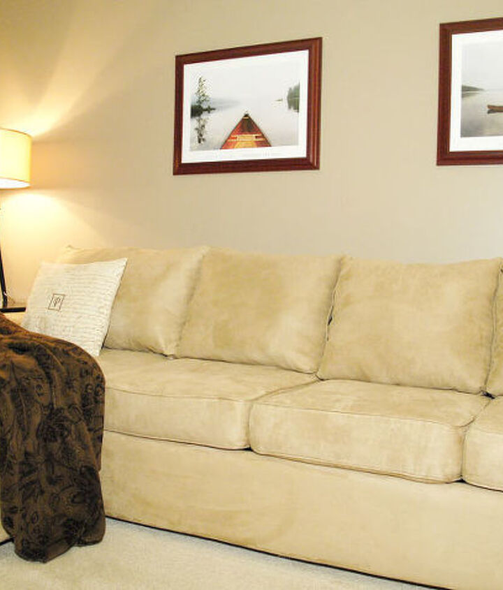 Here's the old couch that looks like new again.