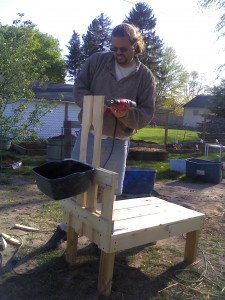 making a milking stand for a goat, diy, homesteading, pets animals, woodworking projects