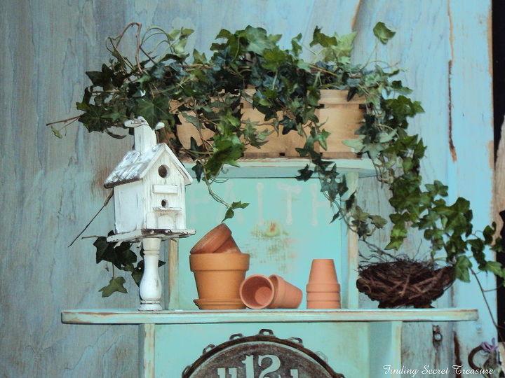 sneak peak at my free potting bench, flowers, gardening, painted furniture