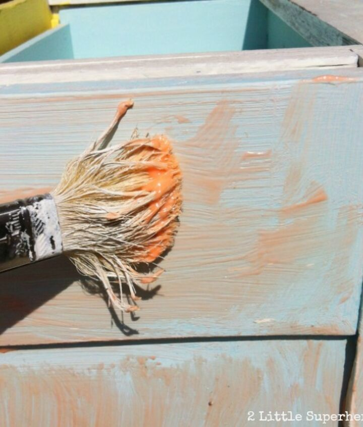 Apply stripper with an old paint brush.