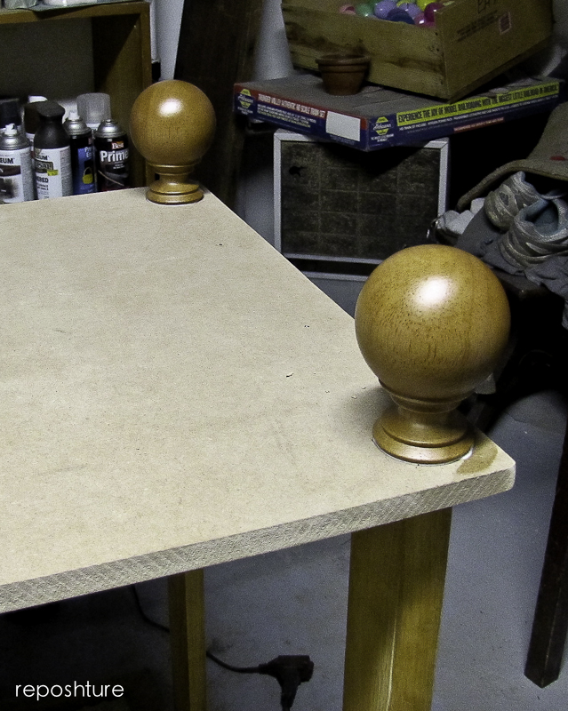 shelf and screw-in finials added