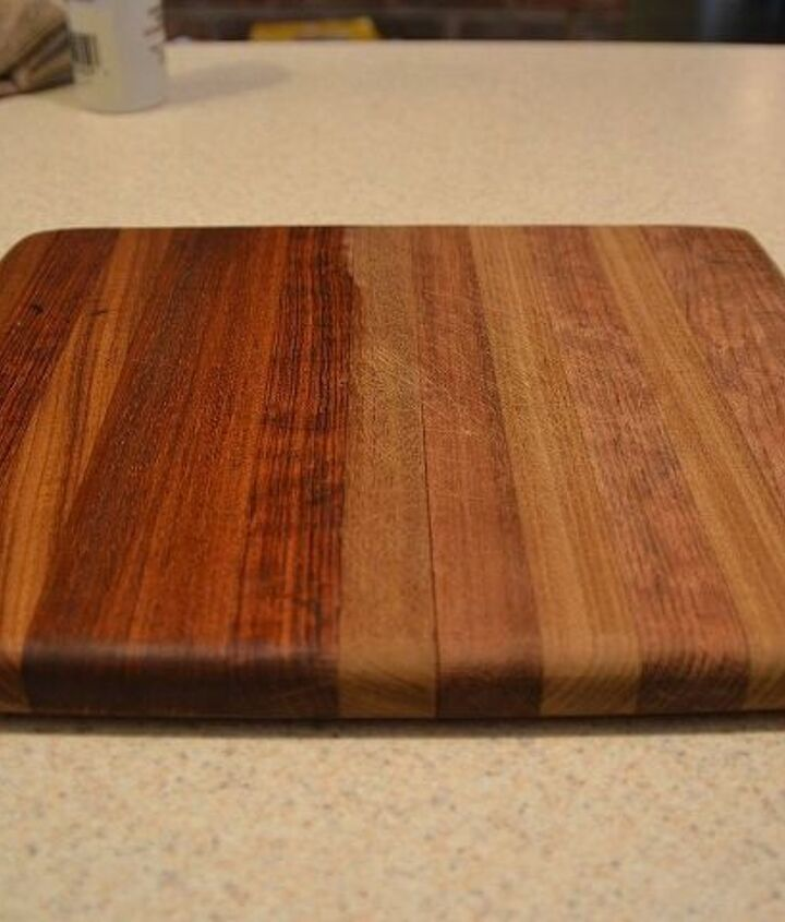 Another cutting board.  Before on the right, after on the left.