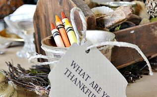 how to include your kids in thanksgiving decor a thankful runner, crafts, seasonal holiday decor, thanksgiving decorations