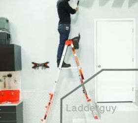 Step Ladder Set Up With One Long Side