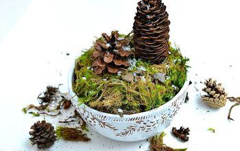 How to Make a Winter Pine Cone Terrarium