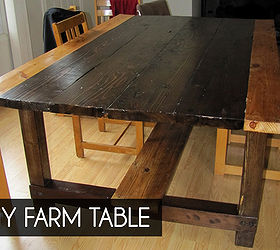 Diy Farm Table From Reclaimed Lumber, Diy, How To, Painted Furniture,  Repurposing