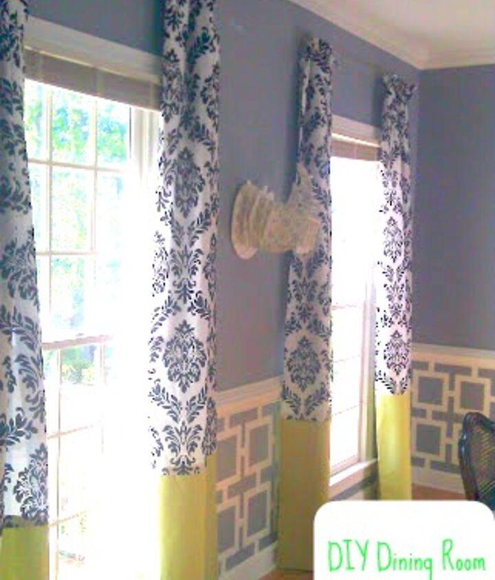 My DIY formal dining room (yes, including my no-sew drapes and knock-off cardboard-safari rhino head)