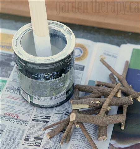 make a branch coat rack, painting, repurposing upcycling