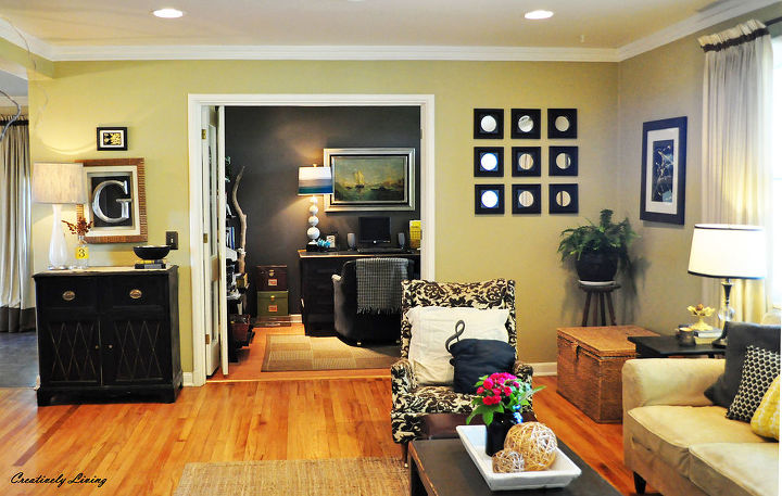 my living room reveal, hardwood floors, home decor, living room ideas
