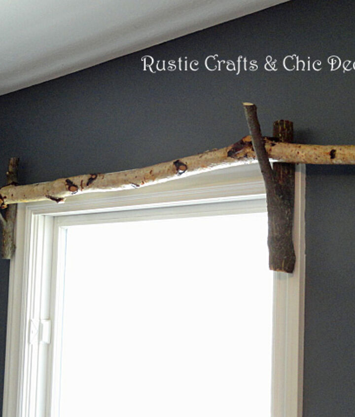 diy curtain rod idea, home decor, repurposing upcycling