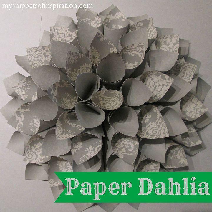 paper dahlia decor craft, crafts