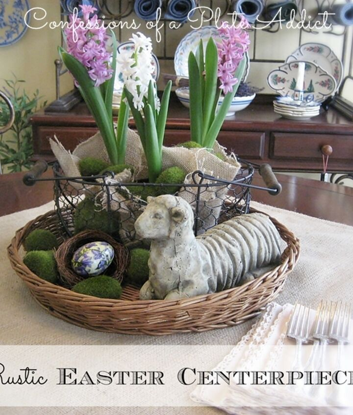 simple and rustic my easter centerpiece, easter decorations, seasonal holiday d cor