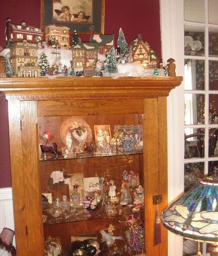 Cabinet with Dickens village...one of many!