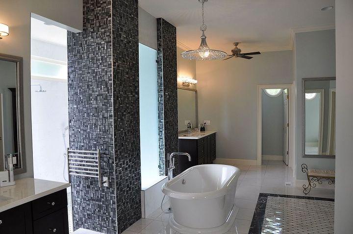 sleek modern bathroom, bathroom ideas, home decor, tiling