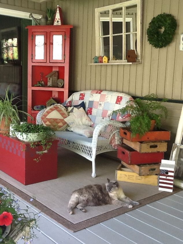 deck, decks, This is my summer sanctuary It is so relaxing to come out in the morning and have a cup of coffee and read the newspaper or a book Our cat loves the space too Pam Gamache