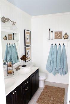 diy coastal bathroom, bathroom ideas, home decor, DIY coastal bathroom