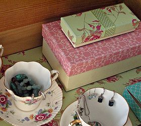 Attrayant Vintage Tea Cup Jewelry Storage Solution, Repurposing Upcycling, Storage  Ideas, Boxes Covered In