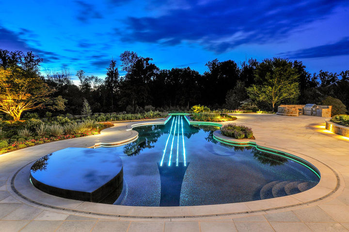 the violin pool, outdoor living, pool designs, spas, Cipriano Custom Swimming Pools and Landscaping Mahwah New Jersey