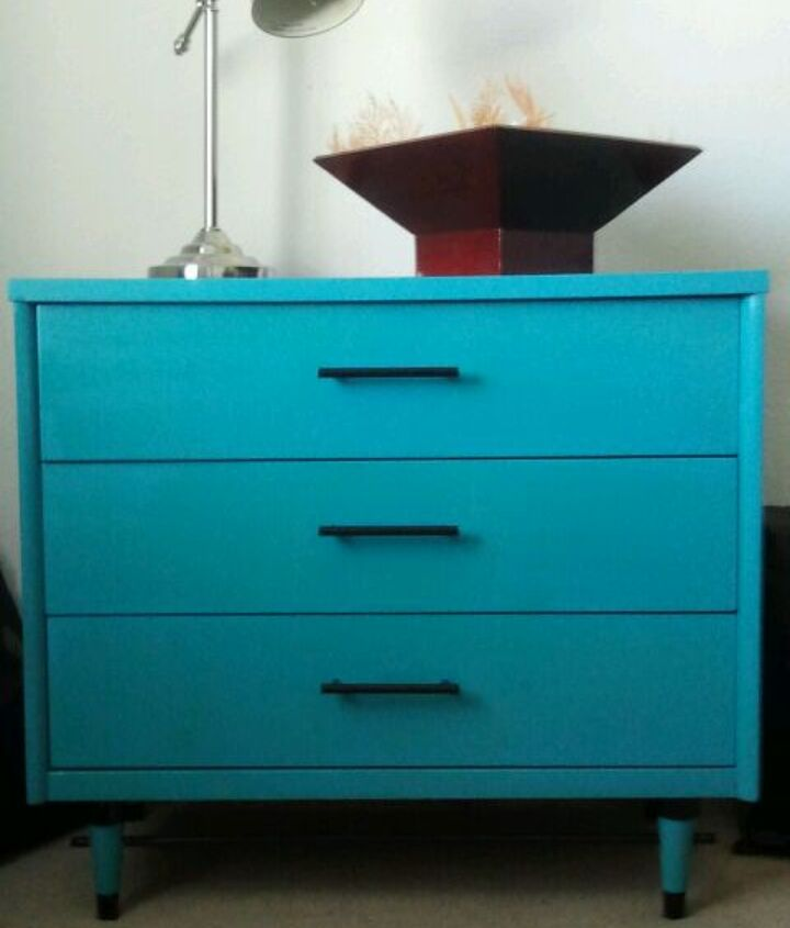 1960 s turquoise and black dresser, home decor, painted furniture