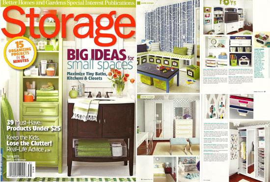 we ve been featured, home decor, painting, CuttingEdgeStencils was featured in Storage Magazine