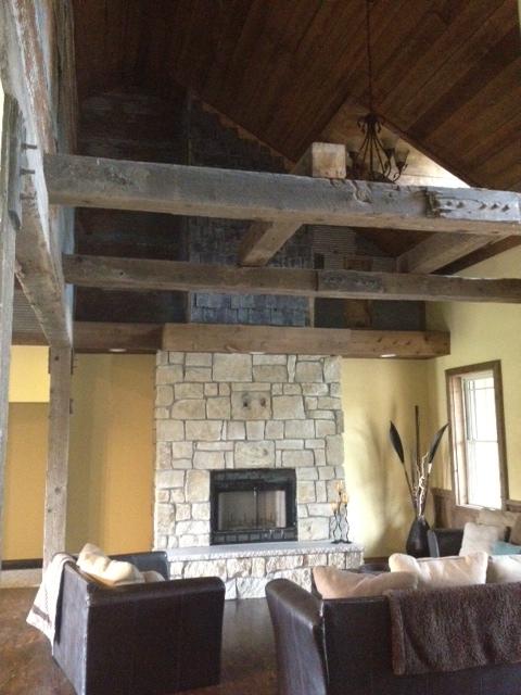laying a limestone fireplace, concrete masonry, fireplaces mantels, home decor