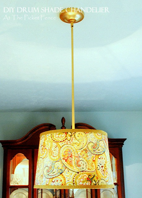 How to make your own Drum Shade Chandelier