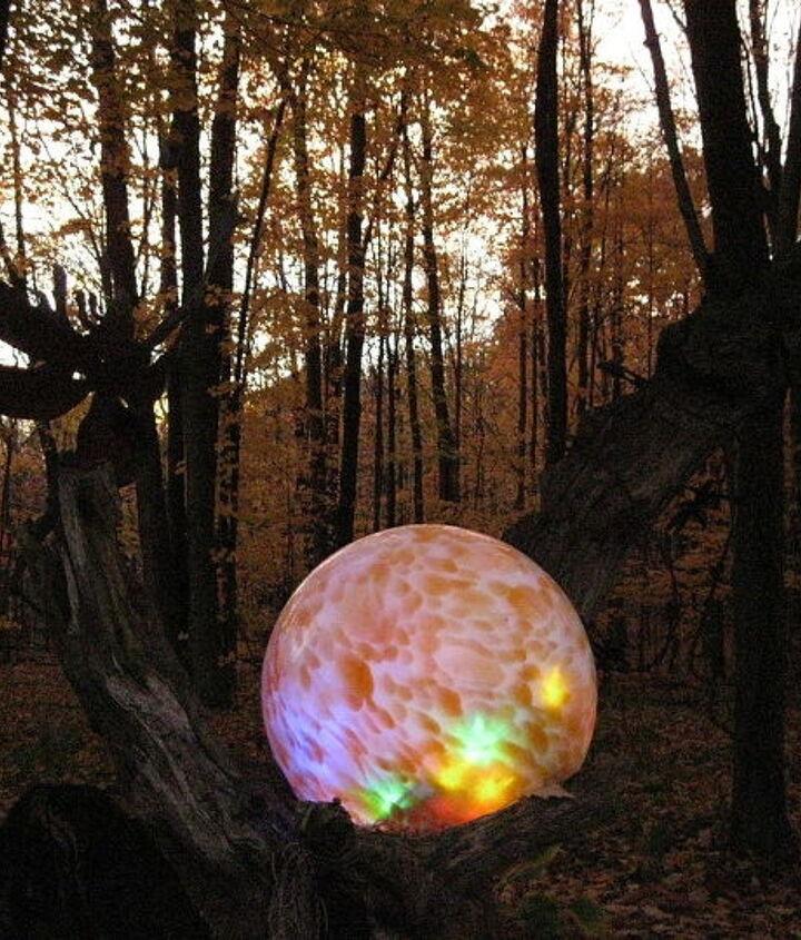 "My original glowing ""fairyball"" at dusk."