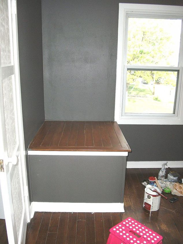 help me with this awkward space, bedroom ideas, home decor, awkward box covering slanted stair wall