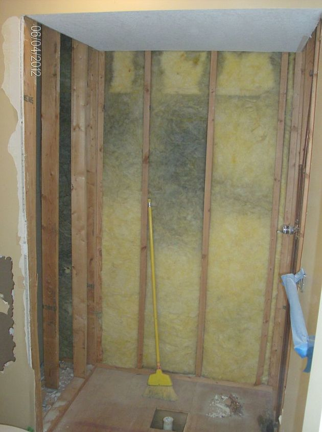 Old shower demoed
