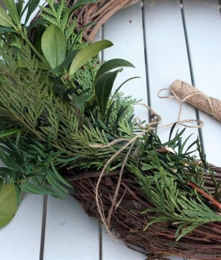 or to make a fresh wreath: http://gardentherapy.ca/making-fresh-wreaths/