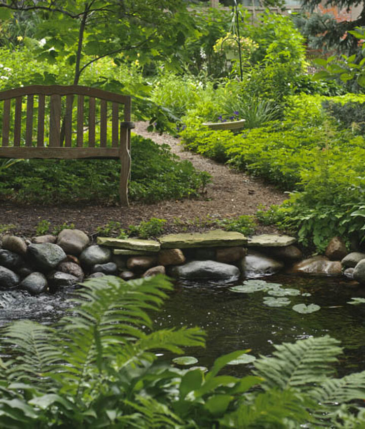 A shady pond provides cool relief from summer's heat.