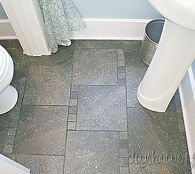 Half Bathroom Before And After, Bathroom Ideas, Home Decor, Small Bathroom  Ideas,. Tile Floor