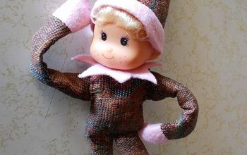 diy pixie elf on shelf, christmas decorations, crafts, seasonal holiday decor, Assemble dress your elf in the body suit slip on the collar over the neck THEN snap on the head Top with the hat Now you are ready to pose